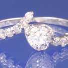 0.74ctw Russian Diamond Engagement Ring Size M or O