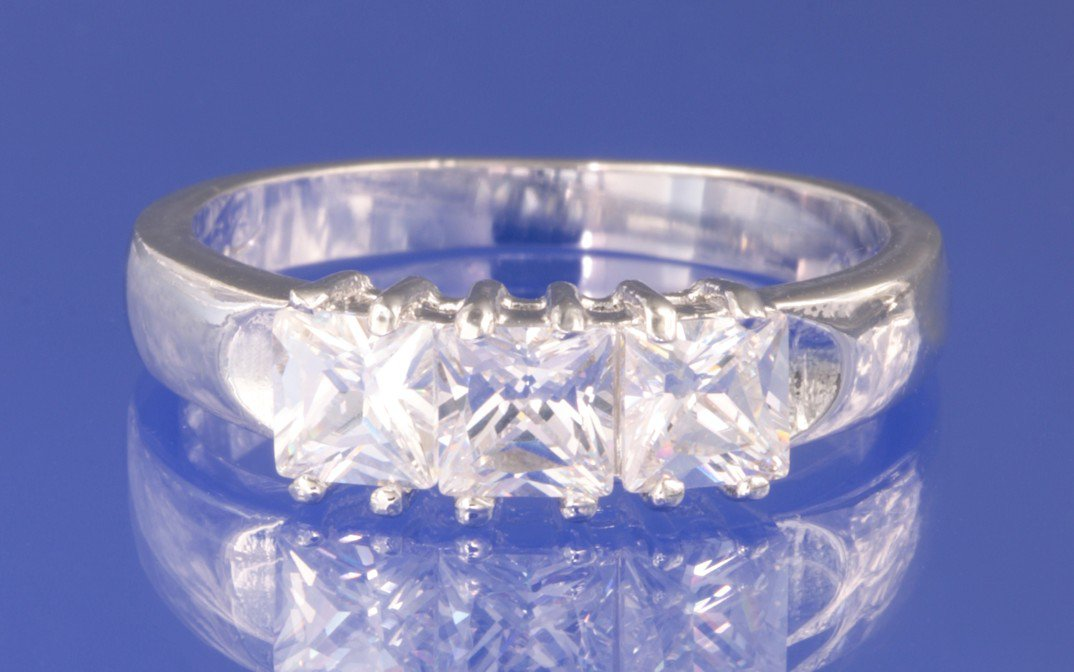 1.5ctw RUSSIAN DIAMOND ENGAGEMENT RING Size I1/2,M,O or P
