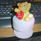 Small Please Bear with Me Bear Music Box Plays Love Story #400009