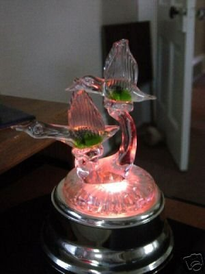 Flying Geese Music Box with Lights Plays Swan Lake #400011