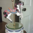 Carousel Horse Musical Music Box Polyresin Base and Mirror Top #400050