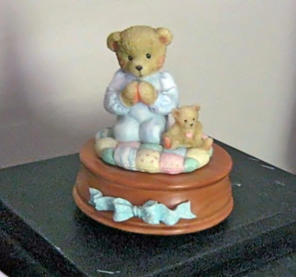 1992 P. Hillman Thank You For a Friend That's True Praying Bear Music Box #400120