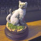 Gray and White Cat with Ball of Yarn Music Box  #400010