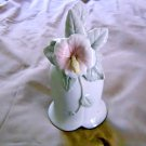 San Francisco Music Box Co. Bell Shaped Music Box with Applied Hibiscus Flower  #400113
