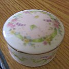 Small Round Hand Crafted Porcelain Floral Music Box Plays Swan Lake  #400092