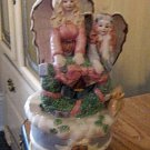 Beautiful Christmas Angels Music Box Plays Come Let Us Adore Him #400083