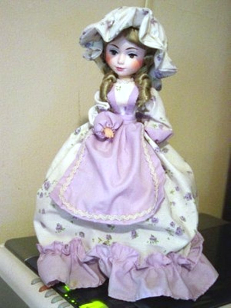 Vintage Little Girl Brinn Collector Edition Music Box Doll Plays Some Enchanted Evening  #400018