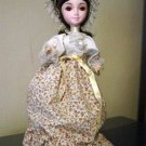Vintage Little Girl Brinn Collector Edition Musical Music Box Doll Floral Dress #400017