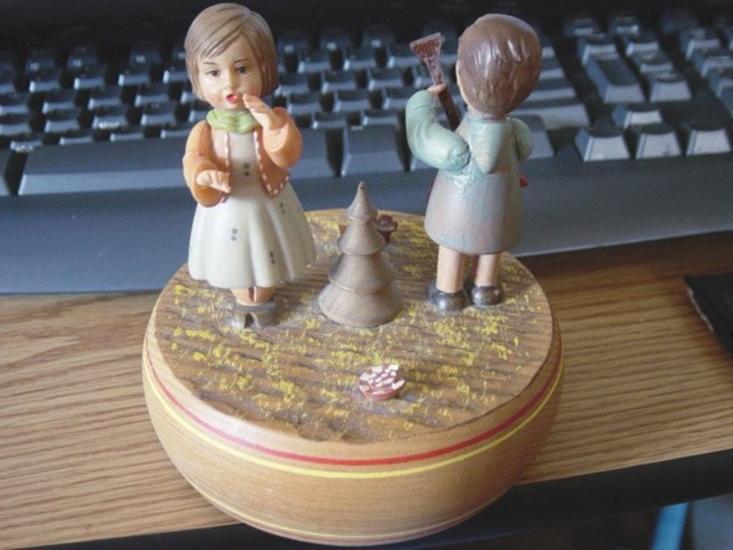 Old Swiss Reuge ANRI Wooden Carousel Music Box Germany #400038