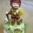 Little Runaway Boy Porcelain Musical Music Box #400049