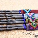 Wood Thai Chopsticks 4 Sets in Thai Silk Gift