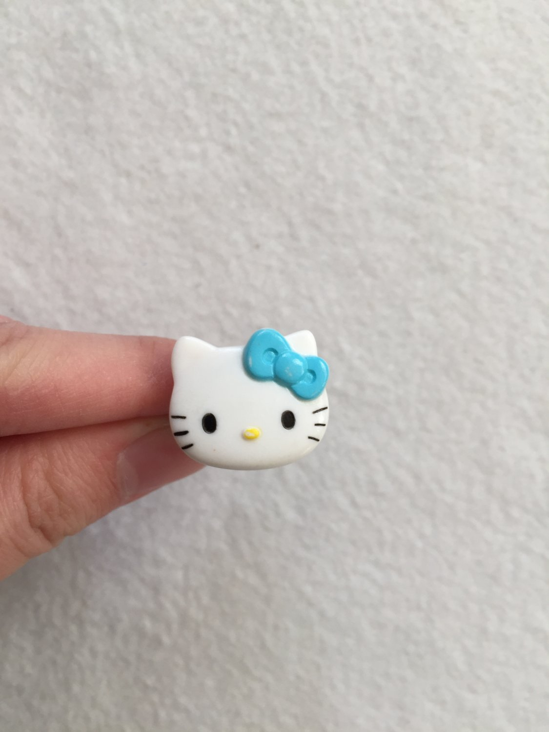Sanrio Blue Hello Kitty with Bird Stamp Ring
