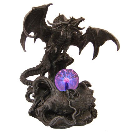 Dark Dragon in Death Valley with Plasma Ball Statue