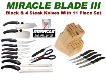 Miracle Blade Kit-Block/Steak Knives and 11Pc Set