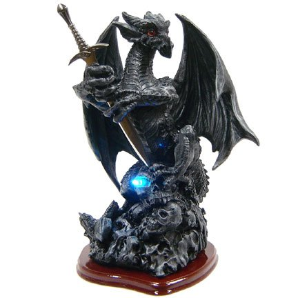 Death Dragon Letter Opener with LED Light