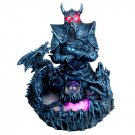 Demon Warrior with LED Light Water Mist Fountain Statue