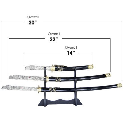 Dragon Samurai 3 Sword Set with Stand