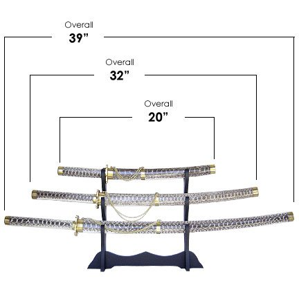 Snake Skin Samurai 3 Sword Set with Stand