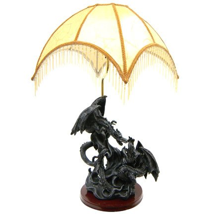 Dark Dragon Statue Lamp