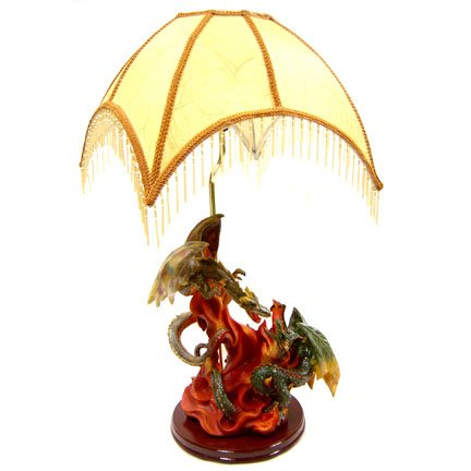 Color Dragon Statue Lamp
