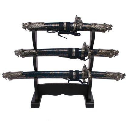 Blue Dragon Mini 3 Piece Sword Set