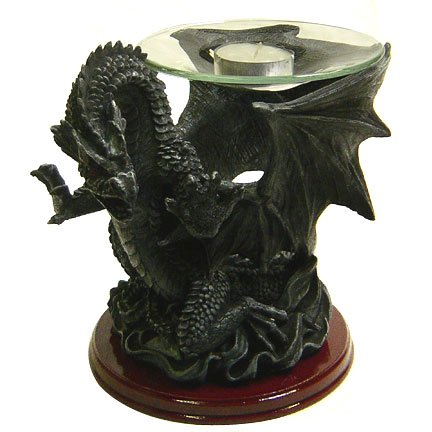 Dark Dragon Candle Holder Statue