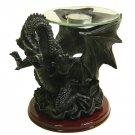 Dark Dragon Candle Holder Statue