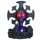 Cross Skull Chopper LED Statue