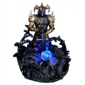 Deadly Warrior Water Mist Fountain Statue