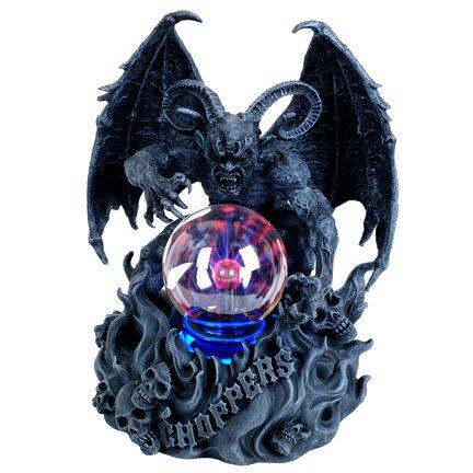 Demon of the Night with Plasma Ball Statue