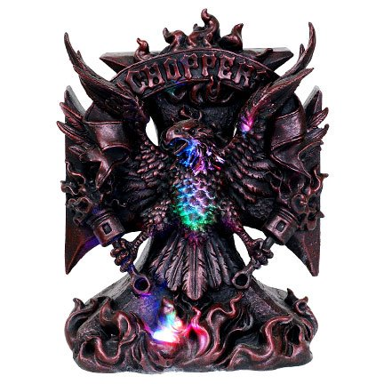 Eagle Flames Chopper LED Statue