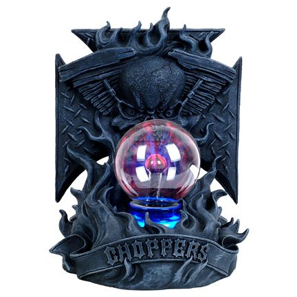 Skull with Plasma Ball Chopper Statue