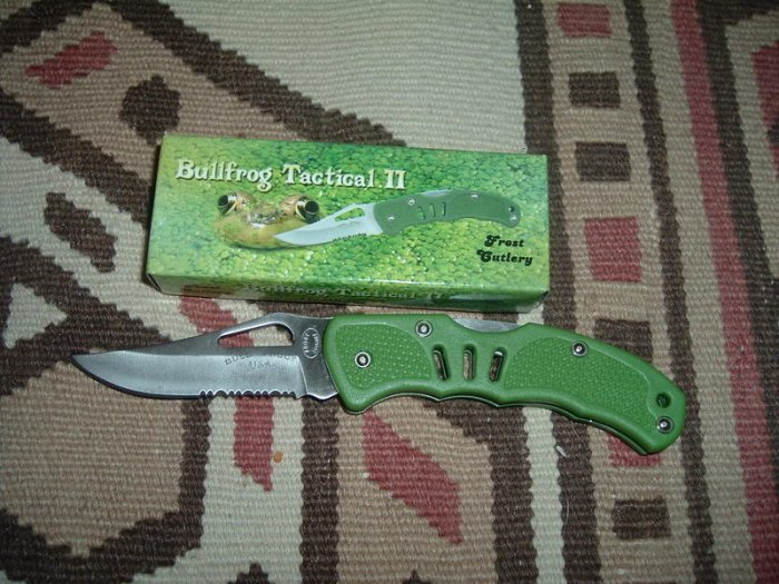Frost Cutlery Knife Bullfrog Tactical II - 4""