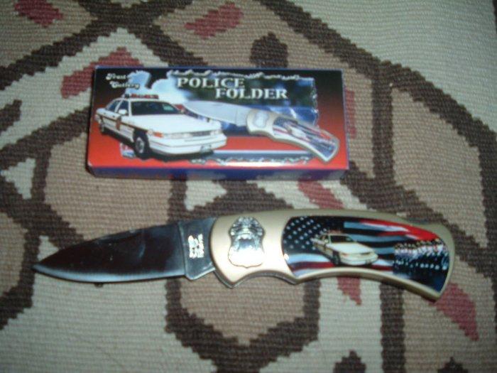"""Frost Cutlery Knife Police Folder - 4 1/2"""""""