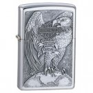 Brushed Chrome, Harley Davidson Made in the USA Eagle & Globe Emblem Zippo Lighter
