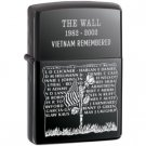 Black Ice, Vietnam Wall Memorial Zippo Lighter