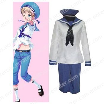 Axis Powers Seeland Peter Kirkland Cosplay Costume any size.