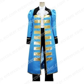 Hetalia Axis Powers Blue France Cosplay Costume any size.