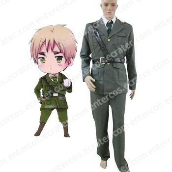 Hetalia Axis Powers United Kingdom Cosplay Costume  any size