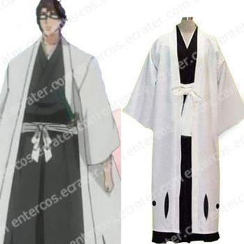 Bleach 5th Division Captain Aizen Sousuke Halloween Cosplay Costume  any size