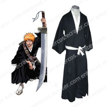 Bleach Ichigo Kurosaki Soul Reaper Uniform Halloween Cosplay any size