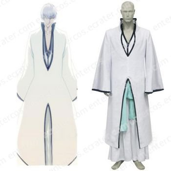 Bleach Ichimaru Gin Arrancar Halloween Cosplay Costume any size