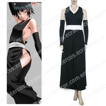 Bleach Soi Fong Fighting Halloween Cosplay Costume any size.