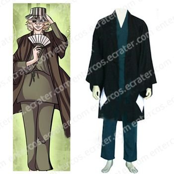 Bleach Urahara Kisuke Men's Halloween Cosplay Costume  any size.
