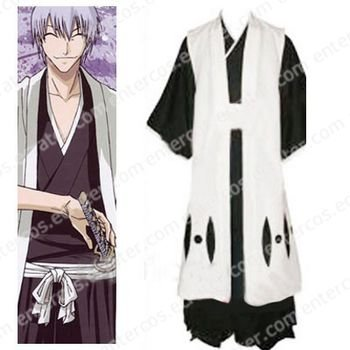 Bleach 3rd Division Captain Ichimaru Gin Halloween Cosplay Costume  any size.