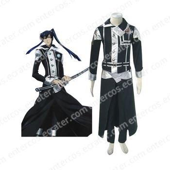 D.Gray-man Kanda Yuu Cosplay Costumes black  any size.