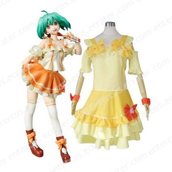 Macross Frontier Ranka Lee Cosplay Costume   any size.