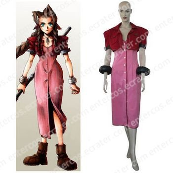 Final Fantasy VII Aerith Halloween Cosplay Costume any size.