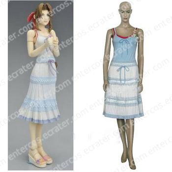 Final Fantasy VII Aerith Gainsborough Cosplay Costume  any size.