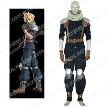 Final Fantasy VII Crisis Core Cloud Strife Halloween Cosplay Costume any size.